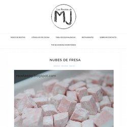 NUBES DE FRESA - Las Recetas de MJ