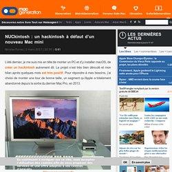 NUCkintosh: un hackintosh à défaut d'un nouveau Mac mini