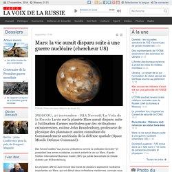 Mars: la vie aurait disparu suite à une guerre nucléaire (chercheur US)