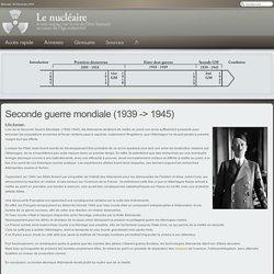 TPE - Le nucléaire et ses conséquences - Seconde guerre mondiale (1939 -> 1945)