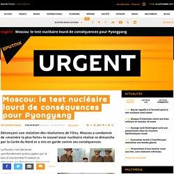 Moscou: le test nucléaire lourd de conséquences pour Pyongyang - Sputnik France
