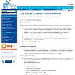 Les acteurs du secteur nucléaire français
