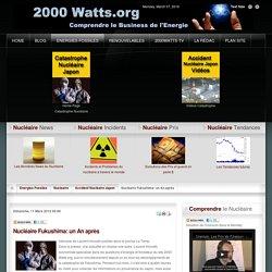 Nucléaire Fukushima: un An après