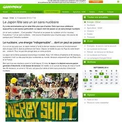 Le Japon fête ses un an sans nucléaire