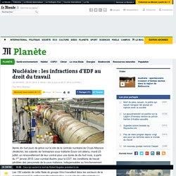Nucléaire : les infractions d'EDF au droit du travail