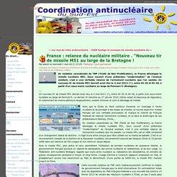 """France : relance du nucléaire militaire . """"Nouveau tir de missile M51 au large de la Bretagne ! - CANSE"""