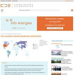 Parc nucléaire mondial : nombre de réacteurs par pays, production, âge, histoire