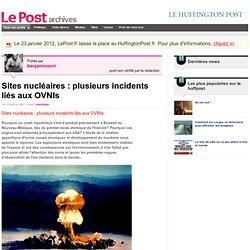 Sites nucléaires et OVNI