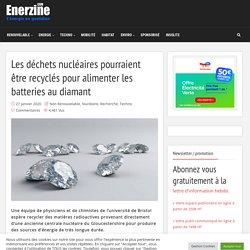 Les déchets nucléaires pourraient être recyclés pour alimenter les batteries au diamant