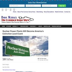 Nuclear Power Plants Will Become America's Extinction Level Event