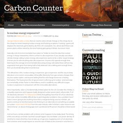 Is nuclear energy expensive? « Carbon Counter