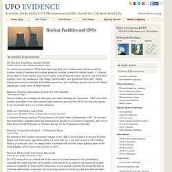Nuclear Facilities and UFOs