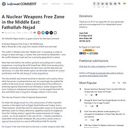 A Nuclear Weapons Free Zone in the Middle East: Fathollah-Nejad