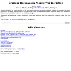 Nuclear Holocausts: Atomic War in Fiction