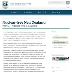 Nuclear-free legislation - nuclear-free New Zealand