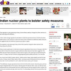 Indian nuclear plants to bolster safety measures