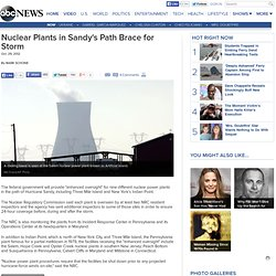Nuclear Plants in Sandy's Path Brace for Storm