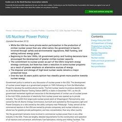 Nuclear Energy Policy USA - World Nuclear Association