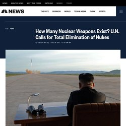 How Many Nuclear Weapons Exist? U.N. Calls for Total Elimination of Nukes