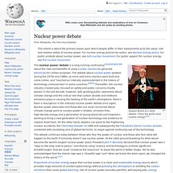 Nuclear power debate