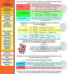 Nucleofilia y solvatación lección 5