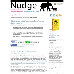 Nudge blog · organ donation