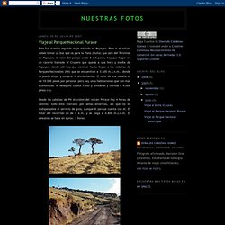 Viaje al Parque Nacional Purace