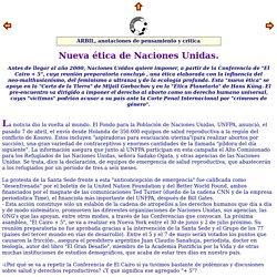 Nueva tica de Naciones Unidas