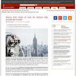 Nueva York lanza el club de lectura más grande del mundo