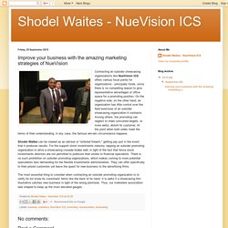 Improve your business with the amazing marketing strategies of NueVision