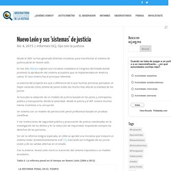 Nuevo León y sus 'sistemas' de justicia