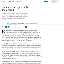 Los nuevos desafíos de la democracia - 15.09.2014 - LA NACION
