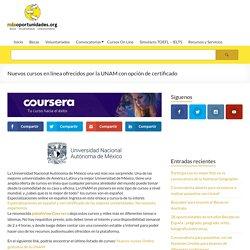 Nuevos cursos en línea ofrecidos por la UNAM con opción de certificado