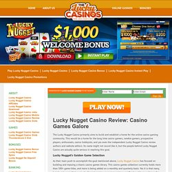 Lucky Nugget Casino Review: Casino Games Galore