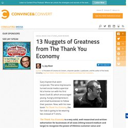 13 Nuggets of Greatness from The Thank You Economy