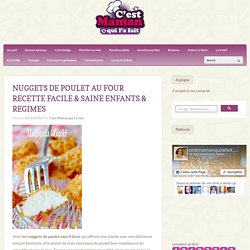 Nuggets de poulet au four