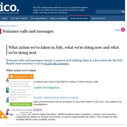 Nuisance calls and messages