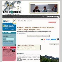 Non aux nuisances du Puits d'Avrieux - Stop au projet du Lyon-Turin pétition