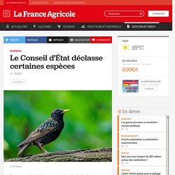 FRANCE AGRICOLE 16/06/17 Nuisibles - Le Conseil d'État déclasse certaines espèces