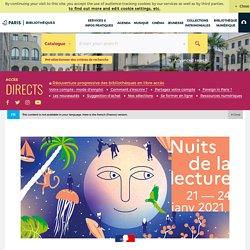 Nuit de la lecture 21-24 janvier 2020 - Paris Bibliothèques-