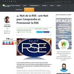 La Nuit de la RSE 2015 : une nuit pour promouvoir la RSE