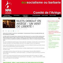 NUITS DEBOUT EN ARIÈGE : UN VENT DE LIBERTÉ !