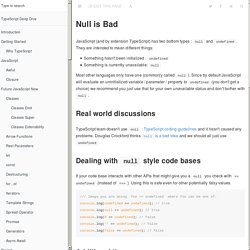 null is bad · TypeScript Deep Dive