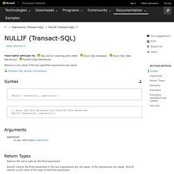 NULLIF (Transact-SQL)