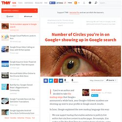 Number of Circles you're in on Google+ showing up in Google search