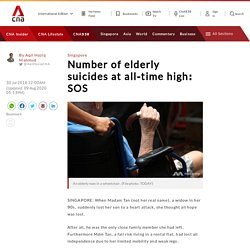 Number of elderly suicides at all-time high: SOS