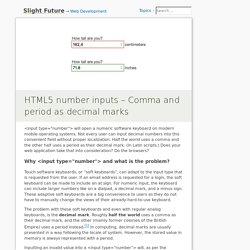 HTML5 number inputs – Comma and period as decimal marks – Slight Future