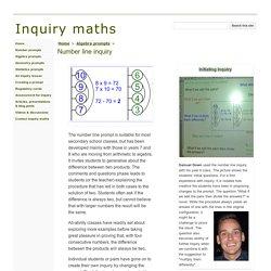 Number line inquiry