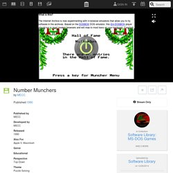 Number Munchers : MECC : Free Streaming