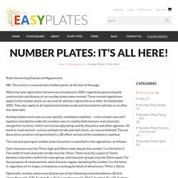 Number Plates: It's All Here! - Easy Number Plates